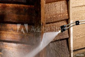 pressure washing wood
