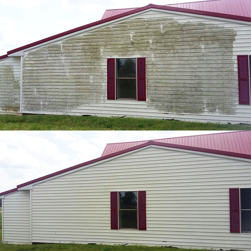 pressure washing siding
